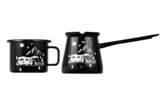 camp life mug and pot
